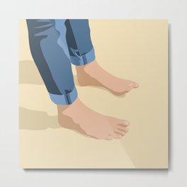 Feet In the Sand Metal Print