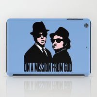 blues brothers iPad Cases featuring Blues Brothers by John Medbury (LAZY J Studios)