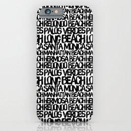 Los Angeles Beach Cities iPhone Case