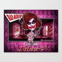 The Joker concept! Canvas Print