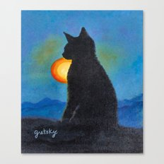 Cat Silhouette Canvas Print