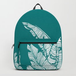 Banana Leaves on Teal #society6 #decor #buyart Backpack