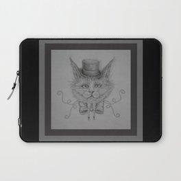 Fancy Cat with hat Laptop Sleeve
