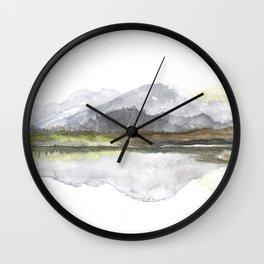 Spring mounteins landscape Wall Clock