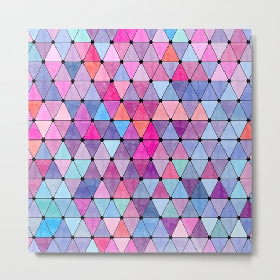 Lovely geometric Pattern VIV Metal Print
