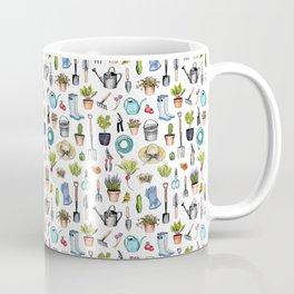 Garden Gear - Spring Gardening Pattern w/ Garden Tools & Supplies Coffee Mug