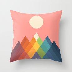 Rainbow Peak Throw Pillow