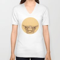 happiness V-neck T-shirts featuring Happiness by Kristina Gufo