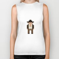 indiana jones Biker Tanks featuring Indiana Jones by Pixel Icons