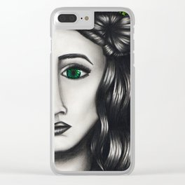 Green Eyes Clear iPhone Case