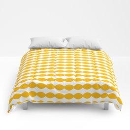Simplistic Orange White Design Comforters