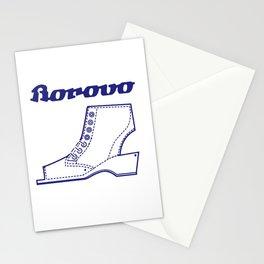Borosana Borovo -  white nostalgic ortopedic shoe from Yugoslavia Stationery Cards
