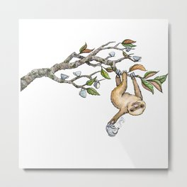 Slow Tea Metal Print