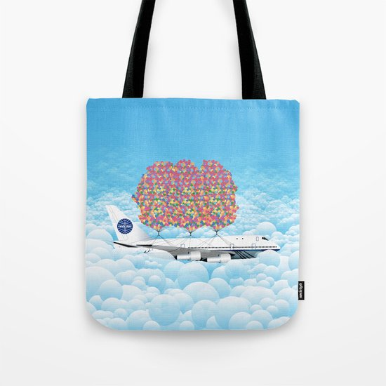 Happy Plane Tote Bag