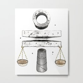 Floating Stone Balanced Metal Print