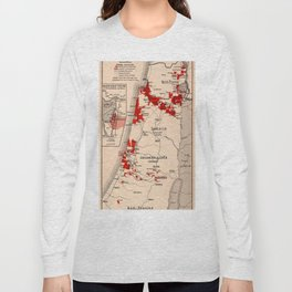 Map Of Palestine 1926 Long Sleeve T-shirt