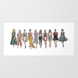 Dress to Impress Art Print