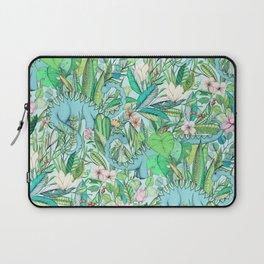 Improbable Botanical with Dinosaurs - soft pastels Laptop Sleeve