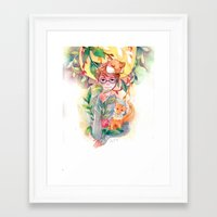 gem Framed Art Prints featuring Gem by Ozora