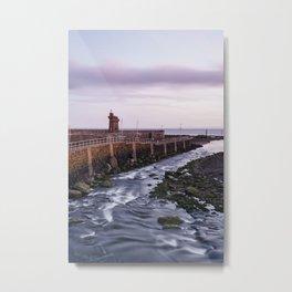 Lynmouth Harbour at dawn twilight. Devon, UK. Metal Print