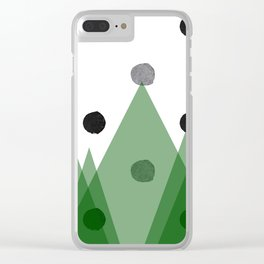 Christmas mountains Clear iPhone Case