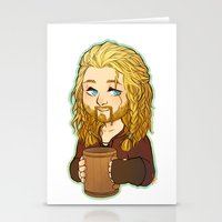 fili Stationery Cards featuring Fili by angryorangecat