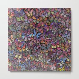 butterfly kaleidoscope square Metal Print