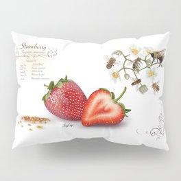 Strawberry and Pollinators Pillow Sham