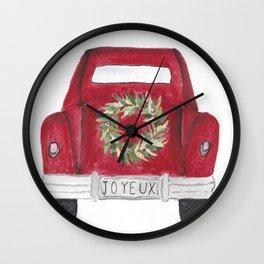 Joyeux Red Car Wall Clock