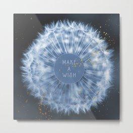Make A Wish Dandelion Metal Print