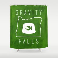 gravity falls Shower Curtains featuring Gravity Falls - Grunkle Stan's Fez (Original) by pondlifeforme