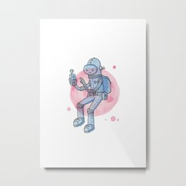 Space Man Metal Print