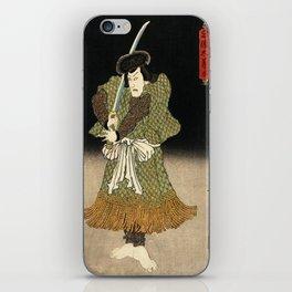 Utagawa Kunisada - An Actor In The Role Of Akugenta Yoshihara iPhone Skin