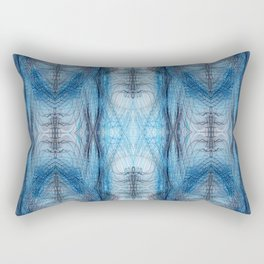 Trails (Blue Spectrum) Rectangular Pillow