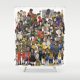 Basketball Culture Shower Curtain