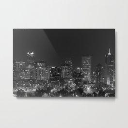 Denver All Aglow B & W Metal Print
