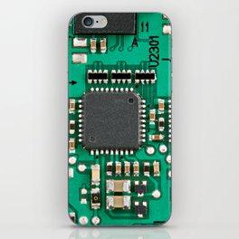 Electronic circuit board with processor iPhone Skin
