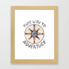 Adventure This Way Framed Art Print