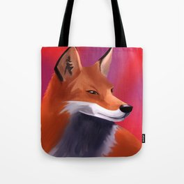 Fox Painting Tote Bag
