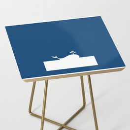 Whale in Blue Ocean with a Love Heart Side Table