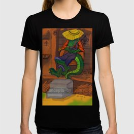 The Cajun Gator (Flat Color Version) by: Henry Wardsworth aka Concepts_By_Henry T-shirt