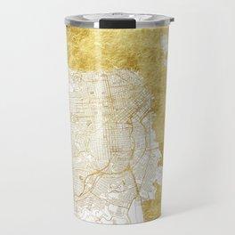 San Francisco Map Gold Travel Mug