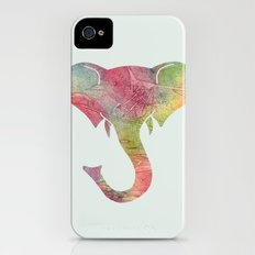Rainbow Elephant iPhone (4, 4s) Slim Case