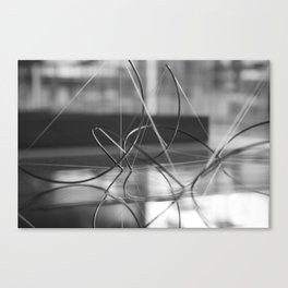 Wires and Strings attached Canvas Print