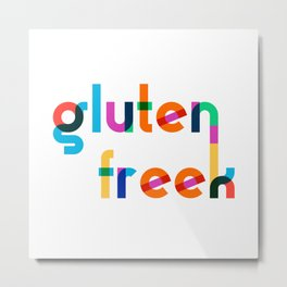 Gluten Freek (Rainbow Macaroni) Metal Print