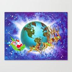 Global Santa Canvas Print