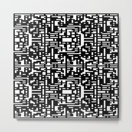 Maze Merge Metal Print