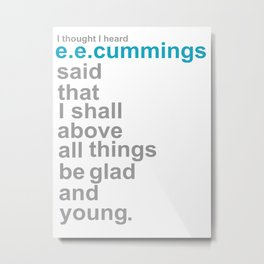 Glad and young Metal Print