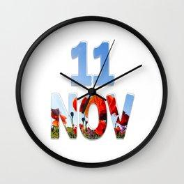 11 NOV Wall Clock
