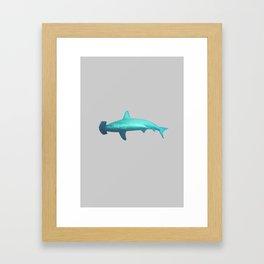 Hammerhead shark Framed Art Print